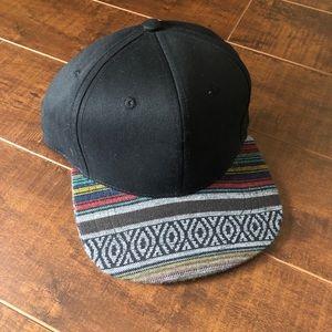 Aztec Black Snapback Hat